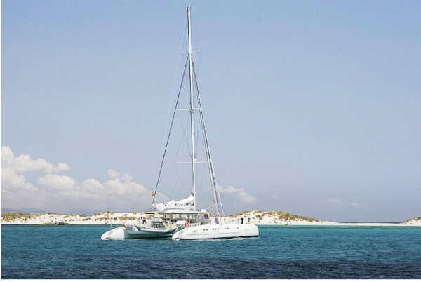 ibiza boat party charter catamaran